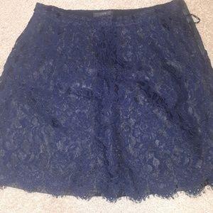 JCrew A-Line lace skirt